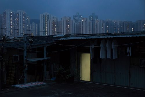 "May 6, 2017 photo, an illegal rooftop hut is seen in Hong Kong. In wealthy Hong Kong, there's a dark side to a housing boom, with hundreds of thousands of people forced to live in partitioned shoebox apartments, ""coffin homes"" and other ""inadequate housing."